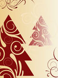 Christmas background. Vector illustration with chrismasy elements Stock Photography