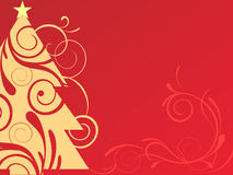 Christmas background. Vector illustration of christmasy elements Stock Image