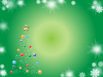 Christmas background. A beautiful christmas background on green Stock Images