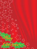 Christmas background. A beautiful christmas background on red Stock Photos