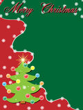 Christmas background. A beautiful christmas background onred and green Royalty Free Stock Photos