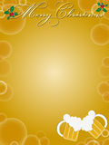 Christmas background. A beautiful christmas background on brown Royalty Free Stock Image