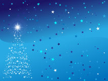 Christmas background. A beautiful christmas background on blue Stock Photos