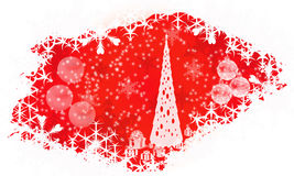 Christmas background. A abstract back ground image of christmas stars, presents, treeand snowflakes Royalty Free Stock Photo