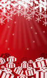 Christmas background. A abstract back ground image of christmas stars, and snowflakes Stock Images