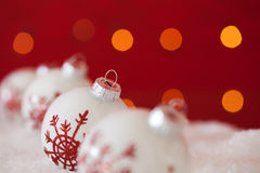 Christmas background. Christmas ornament background; (very shallow deep Royalty Free Stock Images