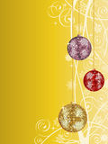 Christmas background. With a disco balls. Vector illustration Royalty Free Stock Photos
