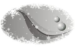 Christmas background. Vector illustration with decorative globes Royalty Free Stock Images