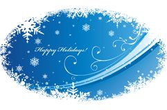 Christmas background. Vector illustration with decorative snowflakes Stock Photos