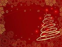 Christmas background. Elegant christmas background with shiny christmas tree-vector illustration Stock Photography