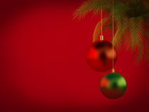 Christmas background. With shiny christmas balls Stock Image