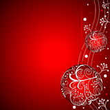 Christmas background. With decorative ornaments Stock Photos