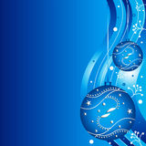 Christmas background. Blue christmas background with ornaments Royalty Free Stock Photography