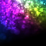 Christmas background. Colorful Backdrop with bokeh effect on background lights royalty free illustration
