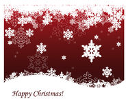 Christmas background. Red christmas background with snowflakes Stock Images
