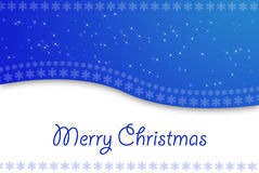 Christmas Background. Blue Christmas Background  space for sample text Royalty Free Stock Images