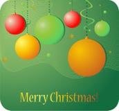 Christmas background. Illustration with decorative globes Stock Photography