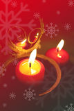 Christmas background. With red color and candels Stock Images