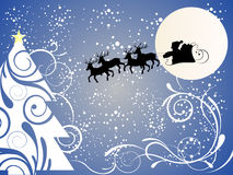 Christmas background. Vector illustration with christmasy elements Royalty Free Stock Image