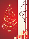 Christmas background. Vector illustration of christmasy elements Stock Photos