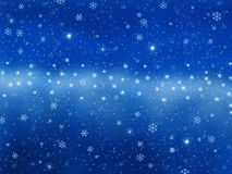 Christmas background. With frozen stars and blue background Stock Photography