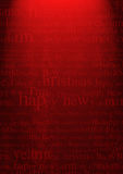 Christmas Background. Textured red background. merry christmas happy new year text Stock Photography