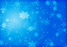 Christmas Background. Blue christmas background illustration white snow flakes Royalty Free Stock Photos