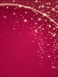 Christmas background. Christmas theme with stars on a pink background Stock Photo