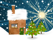 Christmas background. Christmas theme landscape for your greeting card Royalty Free Stock Images