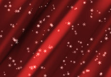 Christmas Background. Red curtain christmas background illustration Stock Images