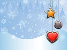 Christmas background. With a holiday baubles. Vector illustration Royalty Free Stock Photography
