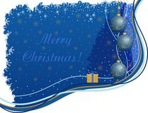 Christmas background. Vector illustration of a Christmas blue background Stock Photo