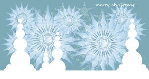 Christmas background. With snowflakes, background for text Royalty Free Stock Photography