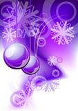 Christmas background. Christmas abstract background in purple color Stock Images