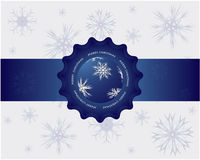 Christmas background. Abstract Christmas background with snowflakes Royalty Free Stock Photography