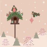 Christmas background. Retro stylized christmas greeting card background Vector Illustration