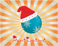 Christmas background. With santa hat Royalty Free Stock Images