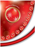 Christmas background. With red ball Stock Image