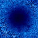 Christmas background. Abstraction blue Christmas background with snowflakes for card and other design for Cd Royalty Free Stock Photos