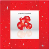 Christmas background. Elegant christmas background with baubles Royalty Free Stock Image