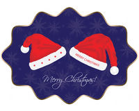 Christmas background. With Santa hat Royalty Free Stock Photos