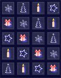 Christmas background in blue tones. Christmas-themed wallpaper, suitable for Christmas greeting cards, postcards, wrapping paper, and any idea about this holiday Royalty Free Stock Photos