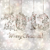 Christmas background. 2013 year Royalty Free Stock Photo
