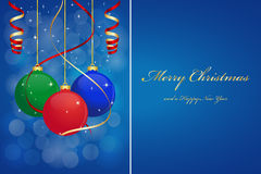 Christmas background. With hanging balls Royalty Free Stock Images