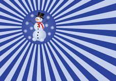 Christmas background. Abstract christmas background with snowman Royalty Free Stock Photos
