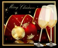 Christmas background. Gold and red Royalty Free Stock Photos