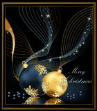 Christmas background. Gold and blue Stock Photography