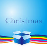 Christmas background. Beautiful Christmas gift Vector Background Stock Image