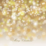 Christmas background. Merry Christmas - shiny gold christmas background vector illustration