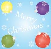 Christmas background. Christmas Card with Christmas tree balls Vector Illustration